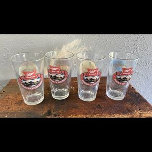 Miller High Life Vintage Sportsman Beer Glass Set